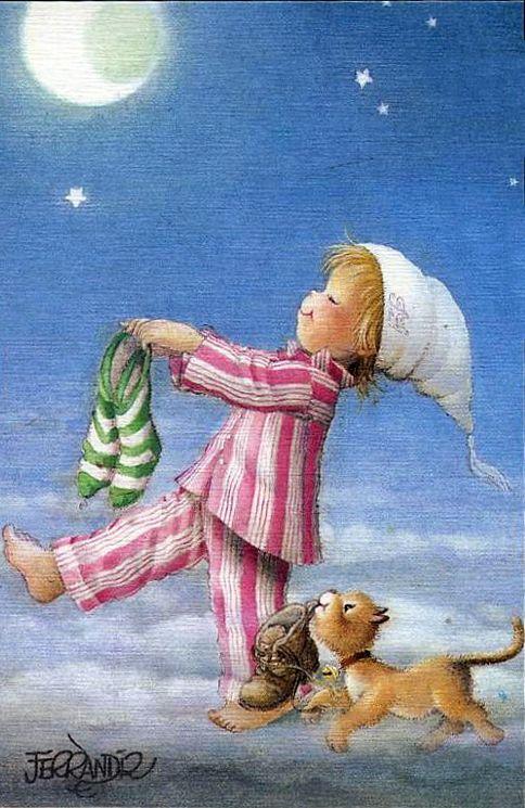 Juan Ferrandiz Enfant somnambule la nuit de Noël