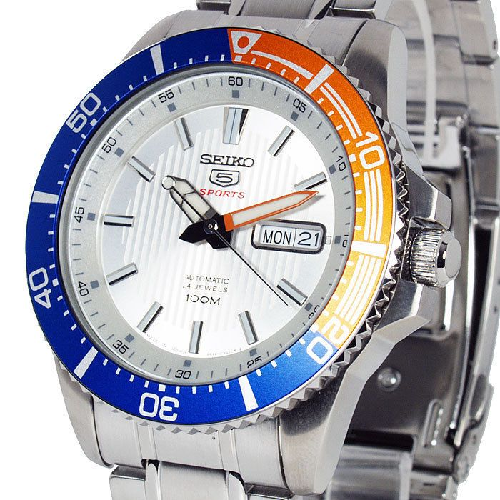 Seiko 5 Sports Automatic Silver Face Divers Style SRP549J1