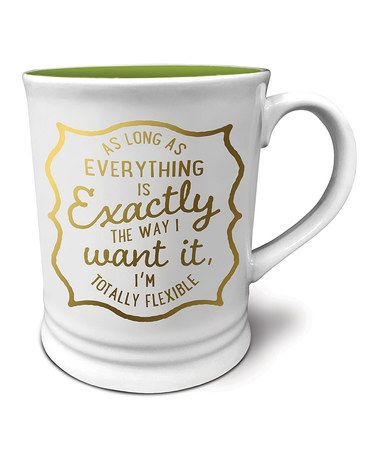 Another great find on #zulily! 'Totally Flexible' Expressions Mug #zulilyfinds
