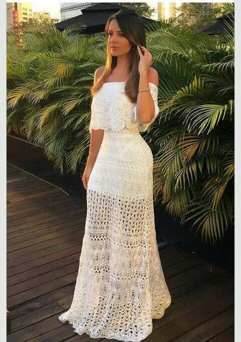 Summer White Dress / Robe d été Blanche.