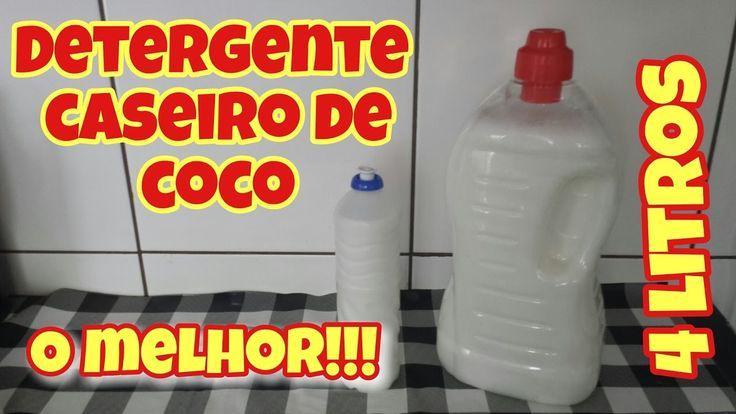 DETERGENTE CASEIRO DE COCO - O MELHOR!!!