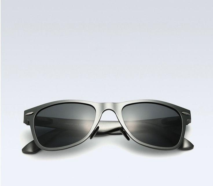 New Aluminum Square Polarized Mirror Sunglasses for Men
