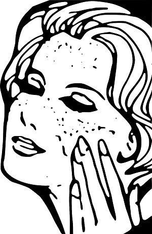 Yüzük parmağı ile makyaj