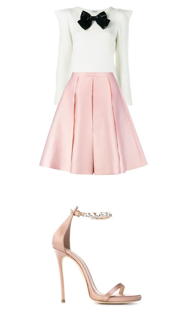 """""""French Inspired Outfit"""" by angelsommer on Polyvore featuring Yves Saint Laurent, Emilia Wickstead and Dsquared2"""