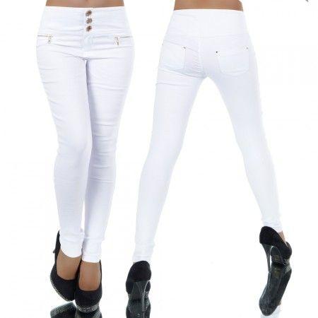 Fehér gombos nadrág