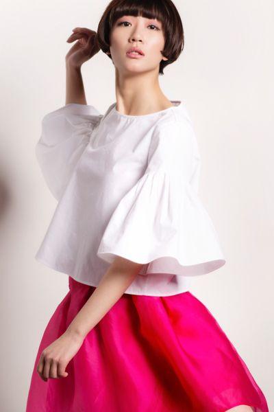 Vacances à Nice Collection: Cotton Top, Bell Sleeve! http://www.lastyleloft.com/online/shop-by-designer/vanessa-cheung/