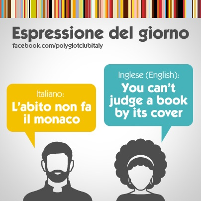 Italian / English idiom: you can't judge a book by its cover