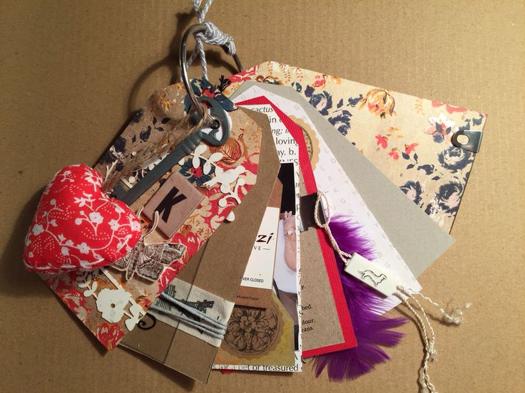 Stunning little keepsake - Gift Tag Book for family or friends. I have it to myself for when I travel overseas on my own - LUV looking at the pictures of my family and dogs inside