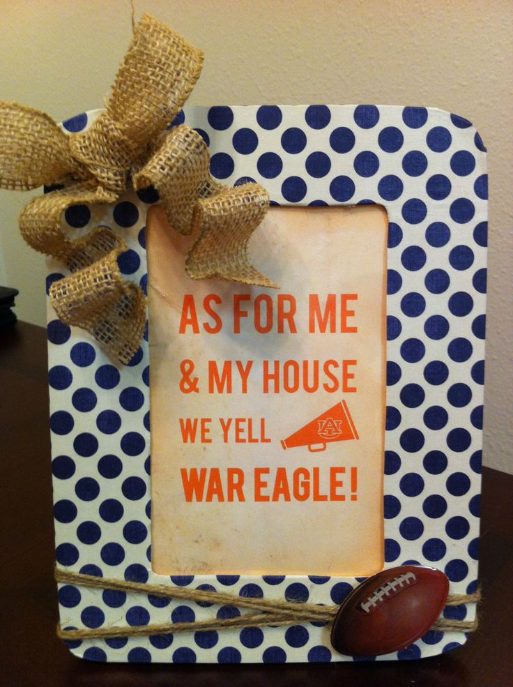 Auburn+Football+Picture+Frame+by+CraftsByAmyLou+on+Etsy,+$9.00