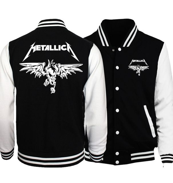 Special price 2017 spring new fashion baseball uniform Classic Heavy Metal Metallica Rock print men hip hop punk sweatshirts drake brand hoody just only $15.04 - 15.39 with free shipping worldwide  #hoodiessweatshirtsformen Plese click on picture to see our special price for you