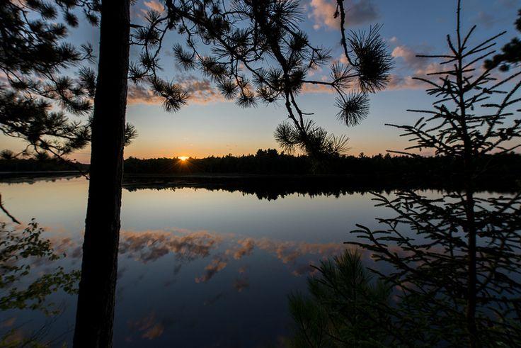Sunset over the Kouchibouguac River. Kouchibouguac National Park, New Brunswick, Canada.