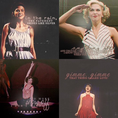 "Sutton Foster in ""Les Misérables"" & ""Anything Goes"" & ""The Drowsy Chaperone"" & ""Thoroughly Modern Millie"""