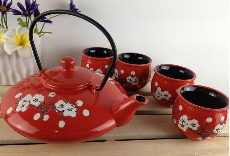 Japanese Style Plum Blossom Tea Set (5 pcs)