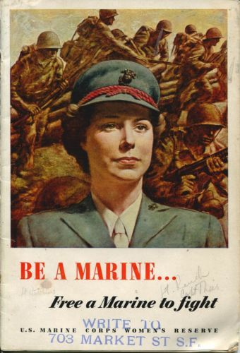 US Marine Corps Recruitment Pamphlet for Women's Reserve ~ WW2 ca. 1943
