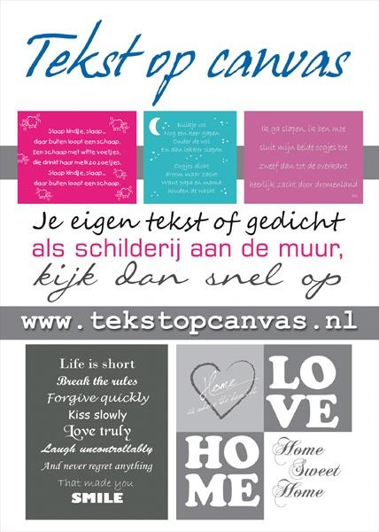 A5 Flyer voor TekstopCanvas (voorkant)