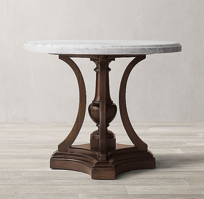 St James Marble Round Entry Table, Round Foyer Table Marble Top