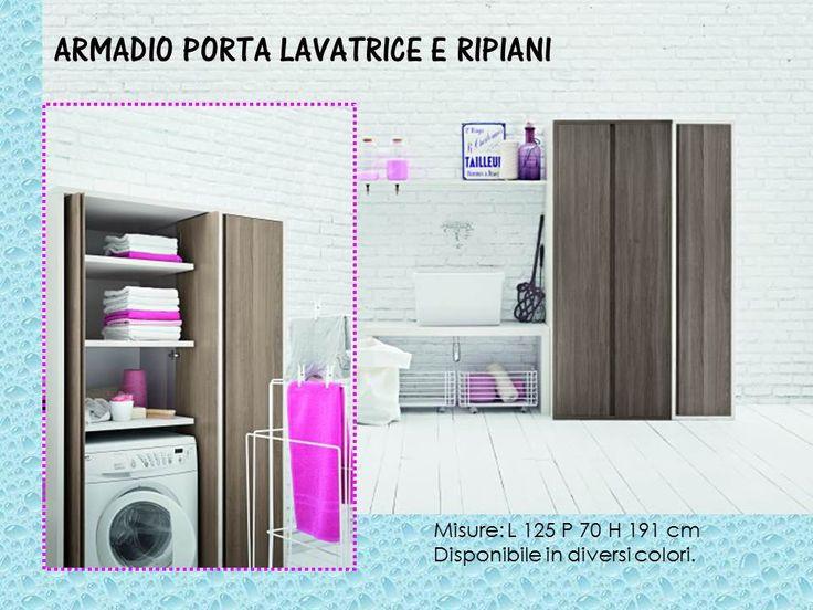 Mobile porta lavatrice asciugatrice e ripiani mobili lavanderia pinterest - Mobile porta lavatrice ...