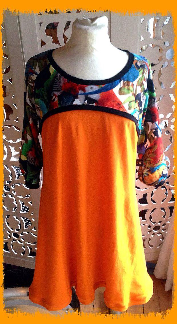 FUS-kjole med papegøyer