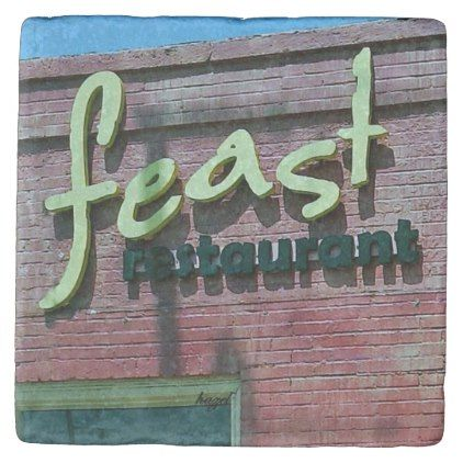 Feast Restaurant Decatur Georgia Marble Coaster - marble gifts style stylish nature unique personalize