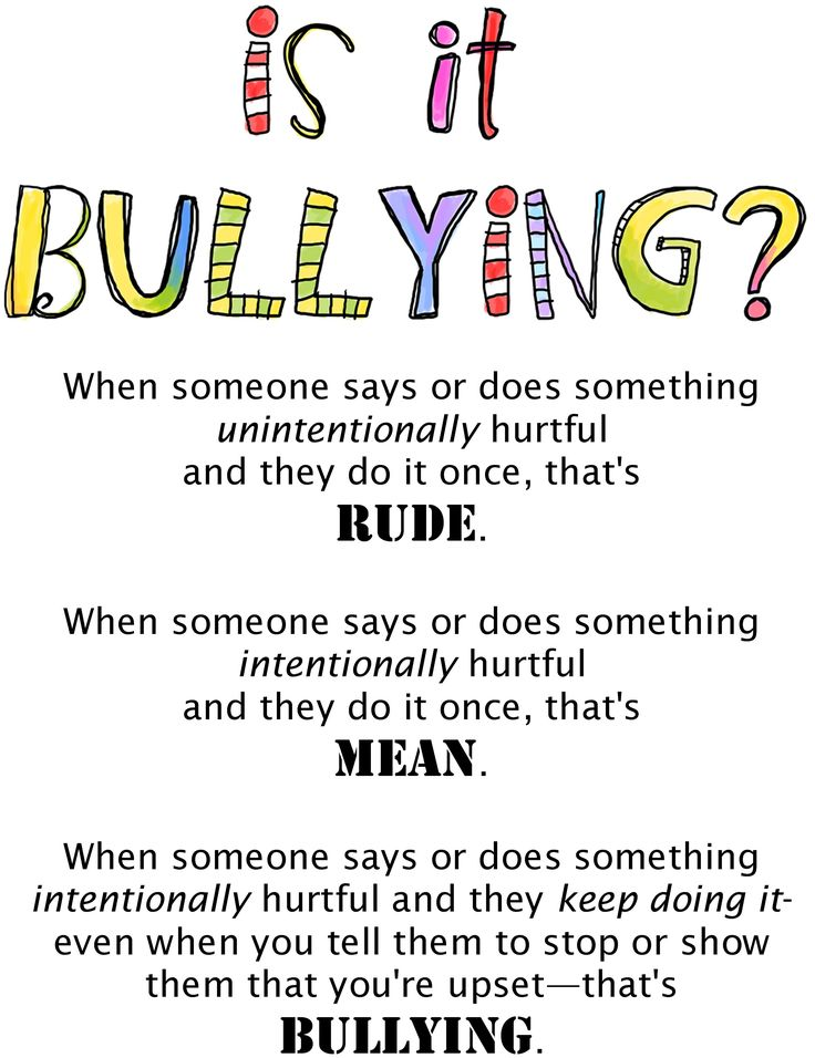 Rude / Mean / Bullying: from Trudy Ludwig's website Prevent bullying now and in the future at http://www.fuzeus.com