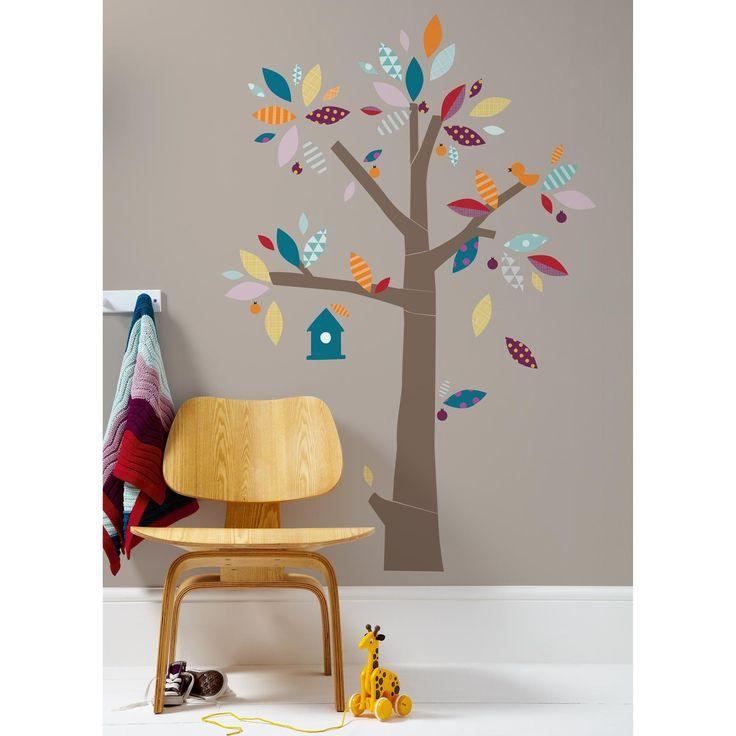 Salon Avec Canape Noir :  arbre muraux, Stickers arbre chambre bébé et Stickers muraux darbre