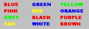 Check out the picture above. As fast as you can, DO NOT read each word, rather try naming the color of each word. It's a little harder than you thought, right? This strange phenomenon, known as the...