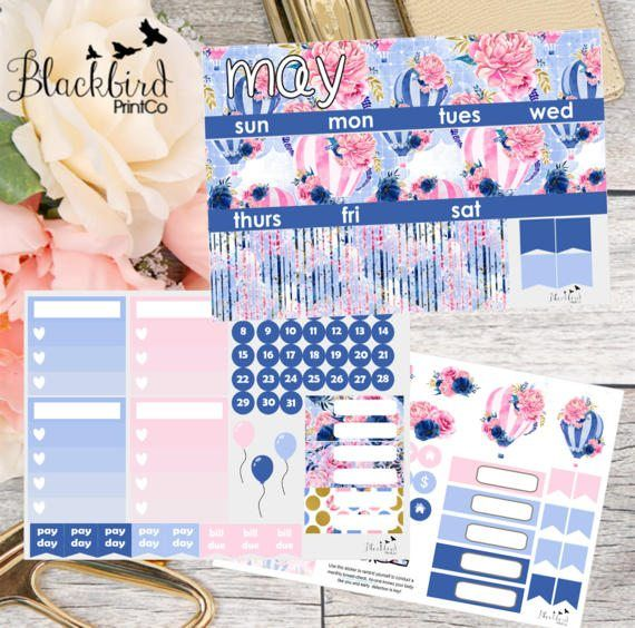 May Monthly View Kit for Erin Condren Life by BlackbirdPrintCo