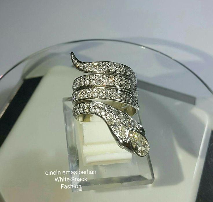 New Arrival. Cincin Emas Berlian White Snack Fashion.  (Harga Promo ~ Valentine Day)  Toko Perhiasan Emas Berlian-Ammad +6282113309088/5C50359F Cp.Antrika.  https://m.facebook.com/home.php #investasi#diomond#gold#beauty#fashion#elegant#musthave#tokoperhiasanemasberlian