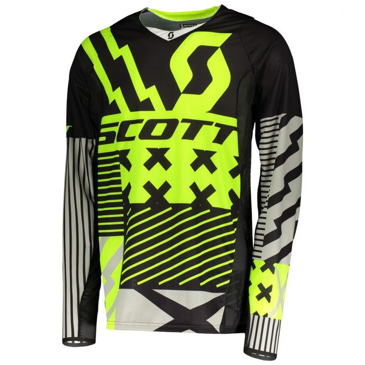 Scott 450 PATCHWORK Jersey (BLK/YEL).