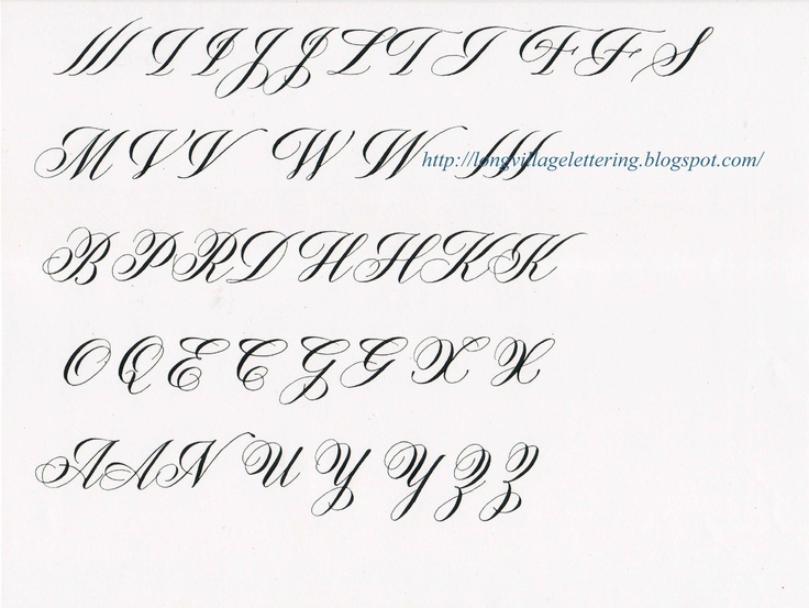 Samples Capitals In Copperplate For Wedding Script On