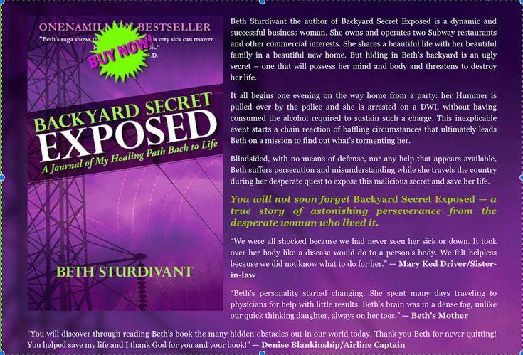 """Backyard Secret Exposed"" True Story by Beth Sturdivant about EMF/EMS Poison! #Informative"
