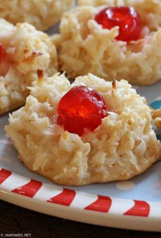 Jam Hands: Cherry Topped Coconut Macaroons