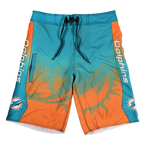 KLEW NFL Miami Dolphins Gradient Board Shorts Large Green ** Continue to the product at the image link.