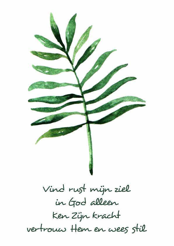 """Kaart """"Leaf"""" Opwekking 695 - WW, verkrijgbaar bij #kaartje2go voor €1,89"""