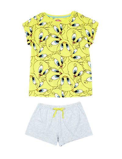 Pure Cotton Tweety Short Pyjamas (6-12 Years) | M&S