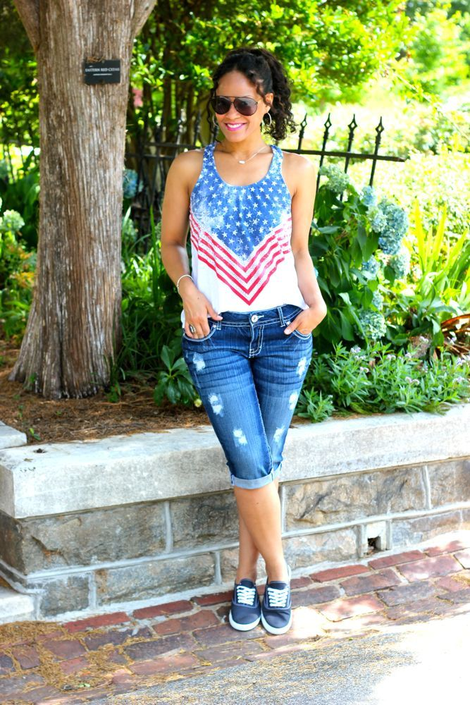 America Themed Top from Deb Shops