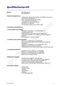 beispiel qualifikationsprofil zur initiativbewerbung httpsgooglgdcluu initiativbewerbung bewerbung muster qualifikationsprofil pinterest - Qualifikationsprofil Muster