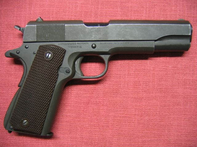 Classic Colt United State Property M 1911 A1 U S Army Parkerised 97Loading that magazine is a pain! Get your Magazine speedloader today! http://www.amazon.com/shops/raeind