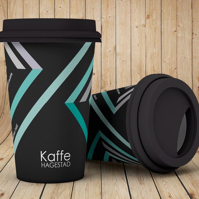 Create a sophisticated paper coffee cup design