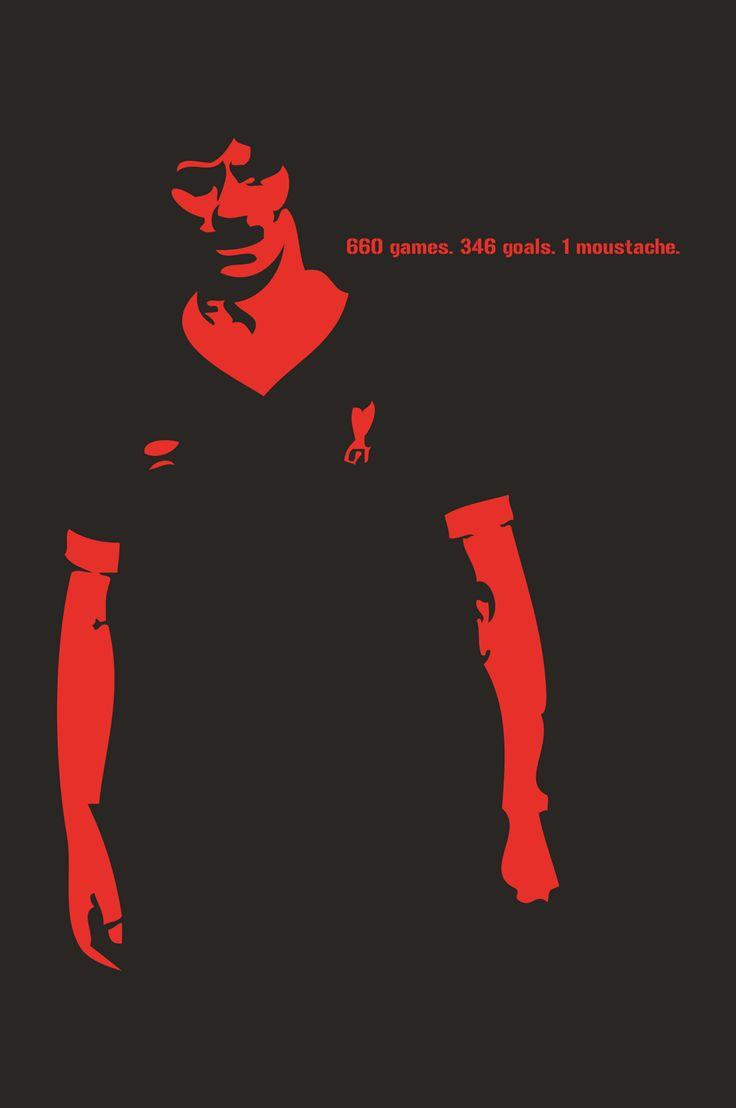 Ian Rush. 660 games. 346 goals. 1 moustache. Liverpool FC.