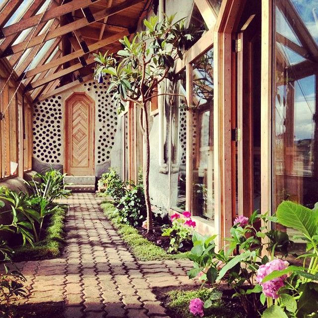 green house as front porch