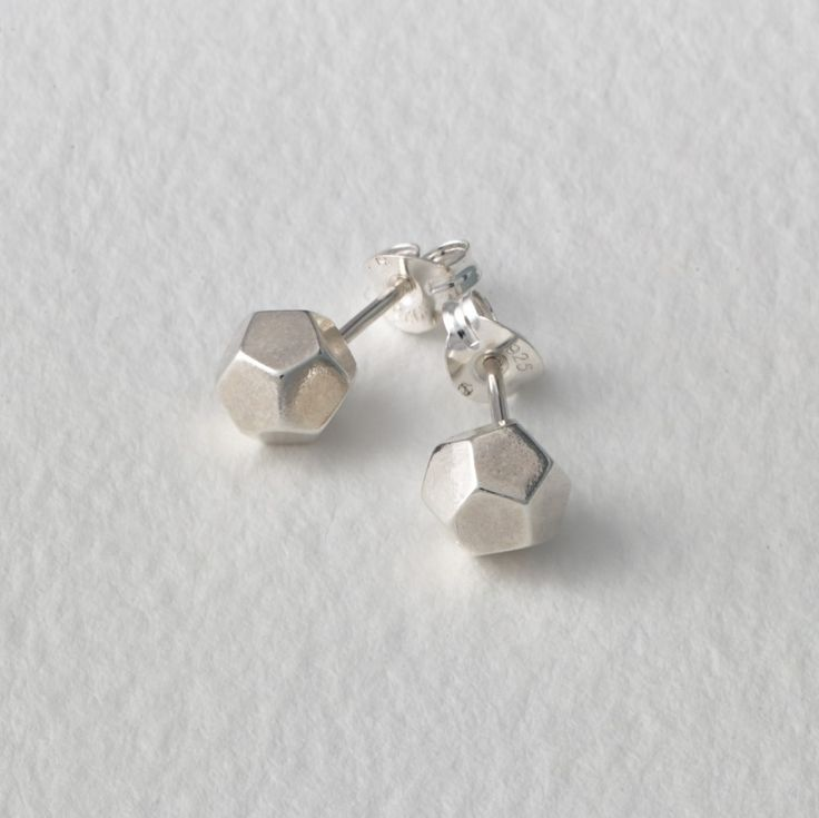 Matthew Calvin —. Dodecahedron Studs Silver