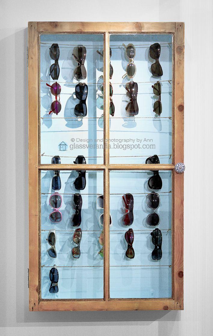 Glassveranda: Gjør-det-selv/DIY: Solbrilleskap