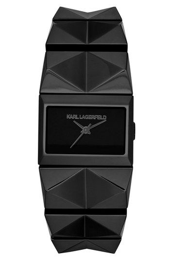 KARL LAGERFELD 'Perspektive' Pyramid Bracelet Watch, 27mm x 20mm available at #Nordstrom