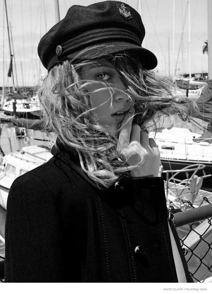 nautical sailor fashion shoot02 Tess Hellfeuer in Nautical Style for Marie Claire Italia by Nagi Sakai
