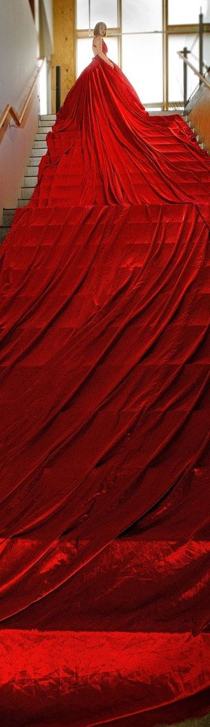 Red dress | The House of Beccaria ~~ Now that is a Lot of Dress!