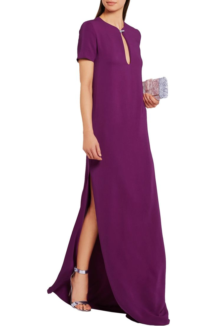 Shop on-sale Lanvin Swarovski crystal-embellished crepe gown. Browse other discount designer Dresses & more on The Most Fashionable Fashion Outlet, THE OUTNET.COM