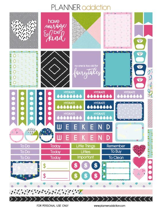 Free Fairytale Printable Planner Stickers from Planner Addiction: