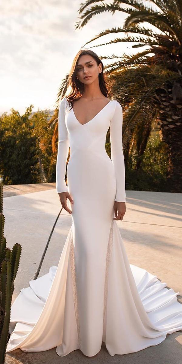 30 Simple Wedding Dresses For Elegant Brides Wedding Forward Wedding Dress Long Sleeve Wedding Dresses Simple Wedding Dresses