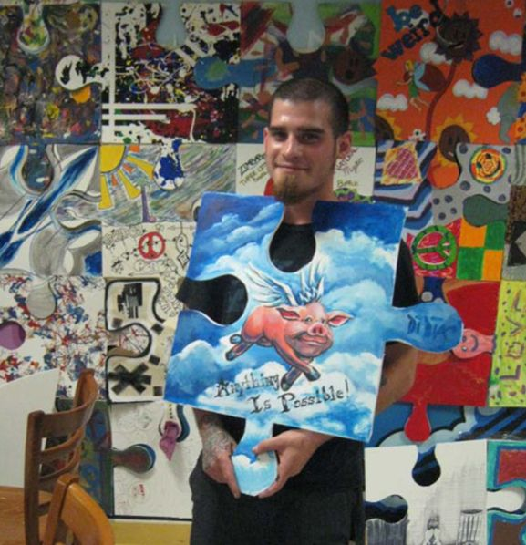 Puzzle Installation and Collaborative Project - artist Tim Kelly.  Good for beginning of the year mural in art or any classroom.